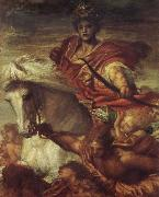 Georeg frederic watts,O.M.S,R.A. The Rider on the White Horse oil painting